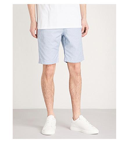 mezcla de azul regular corto con Gatman ajuste BAKER TED de algodón Pantalón de 6xIZF
