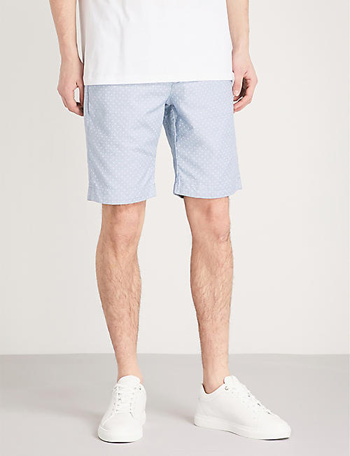 TED BAKER Gatman regular-fit cotton-blend shorts