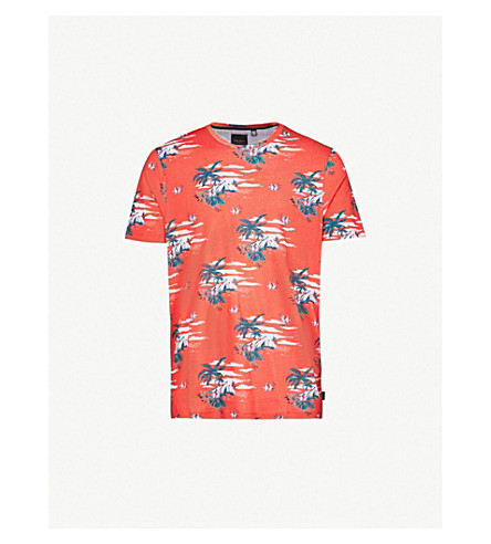 TED BAKER Hawaie cotton-jersey T-shirt (Red