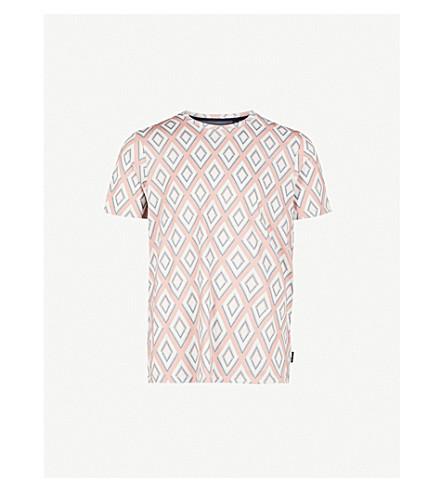 TED BAKER Hexur cotton-jersey T-shirt (Dusky+pink
