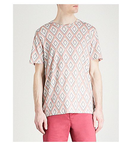 TED BAKER Hexur cotton-jersey T-shirt (Dusky+pink