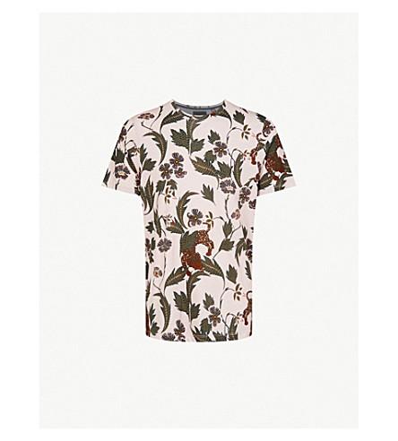 TED BAKER Leopard-print cotton-jersey T-shirt (Dusky+pink