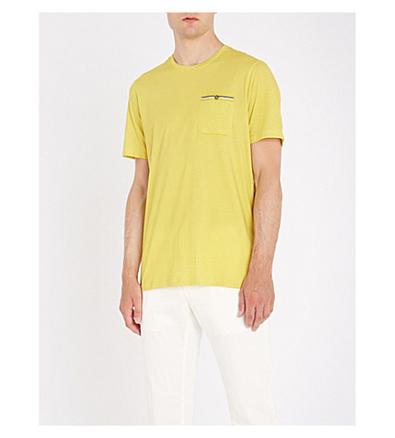 BAKER TED shirt T T yellow cotton Striped cotton Striped BAKER TED Mid shirt Yfw4Y