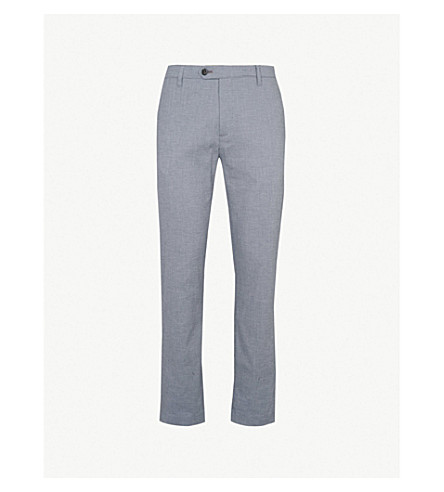 TED BAKER Bestbet crepe trousers (Blue