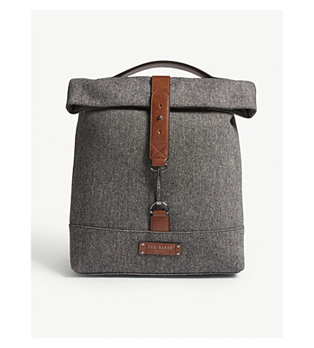 TED BAKER Curtiss roll-down backpack (Grey