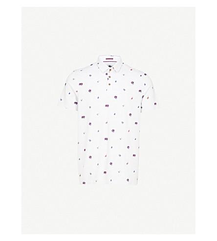 TED BAKER Newbear cotton-jersey polo shirt (Grey
