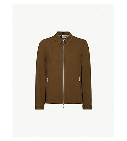 TED BAKER Cotton-blend jacket (Khaki