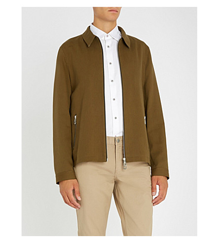 TED BAKER Cotton-blend jacket (Khaki