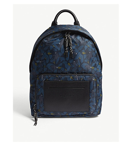 TED BAKER Primate printed shell backpack