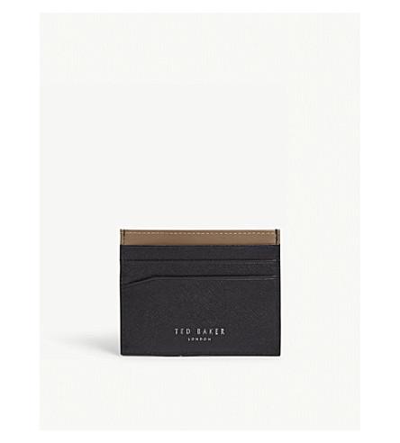 TED BAKER Nach leather card holder (Black