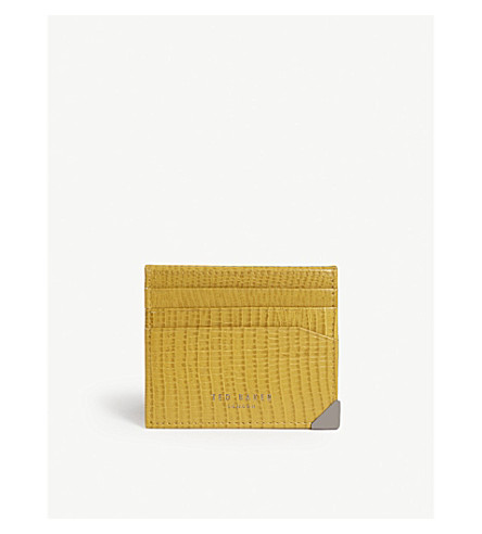 TED BAKER Shells lizard-effect leather card holder