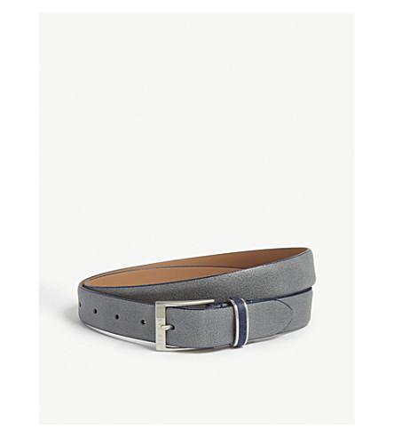 TED BAKER Carrilo waxed suede belt (Grey