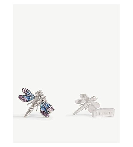 TED BAKER Dragonfly cufflinks (Purple