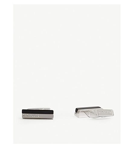 TED BAKER Stone inlay cufflinks (Black