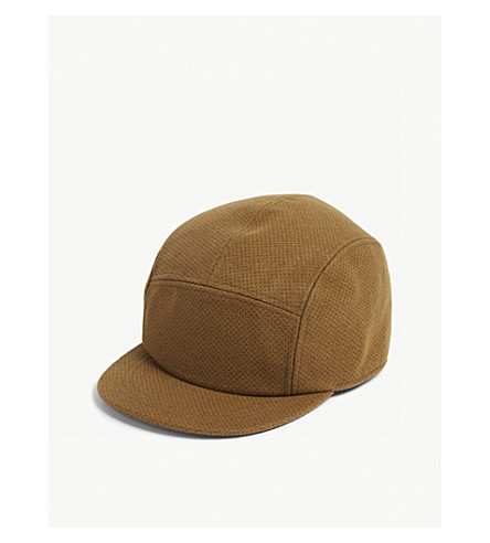 TED BAKER Leaf spotted wool-blend baseball cap (Camel