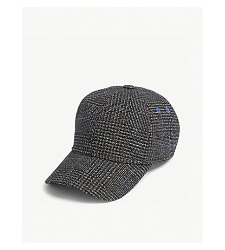 TED BAKER Peptee houndstooth wool-blend baseball cap (Charcoal