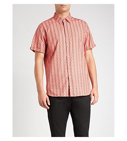 con estampado BAKER TED algodón de piña de Coral Camisa UnRx6pxP