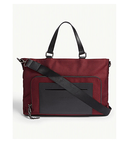 TED BAKER Quays nylon messenger bag (Red