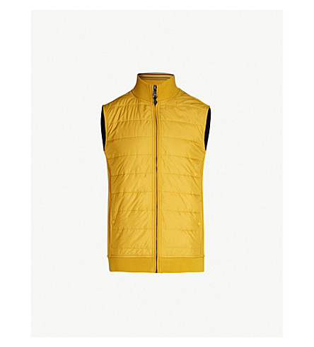 TED BAKER Flie quilted shell and jersey gilet (Yellow