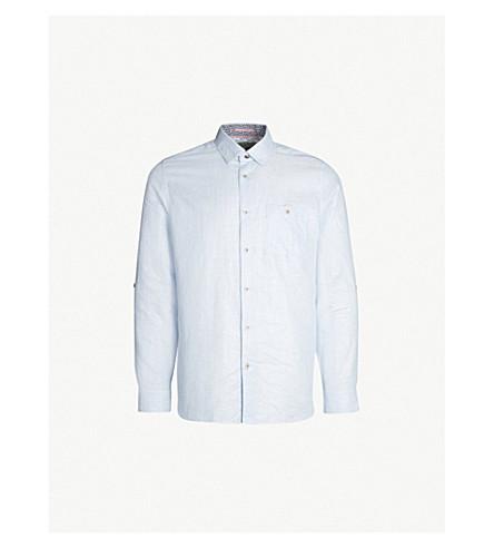 a604d00026 TED BAKER - Emuu regular-fit linen-cotton blend shirt