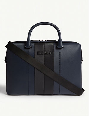 4d2ff161c0 TED BAKER - Giiza cross-grain leather briefcase