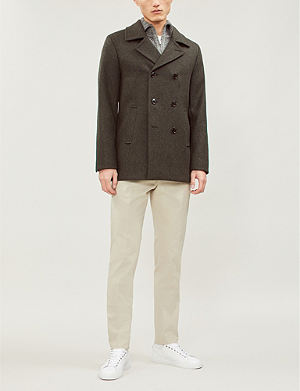 cdcc191ecd937 TED BAKER Double-breasted wool-blend pea coat