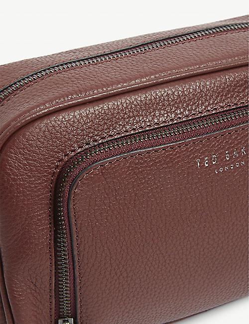 TED BAKER 米尔粒面皮革盥洗包