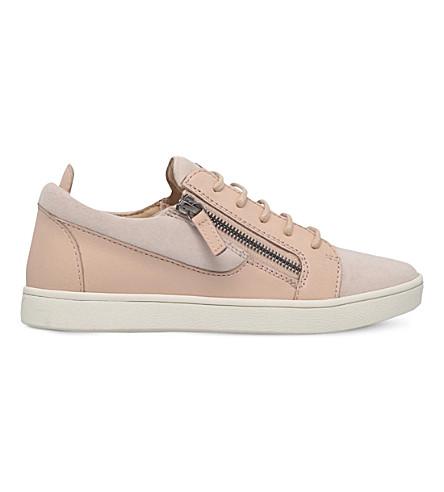 GIUSEPPE ZANOTTI Nicki suede trainers (Pale pink
