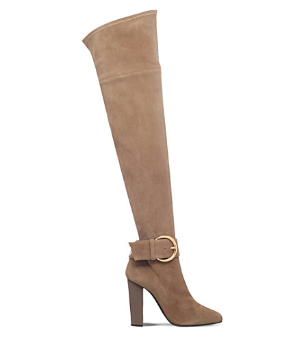 GIUSEPPE ZANOTTI Stretch-suede over-the-knee boots (Beige