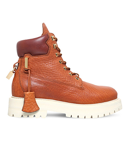 BUSCEMI Site leather boots (Tan