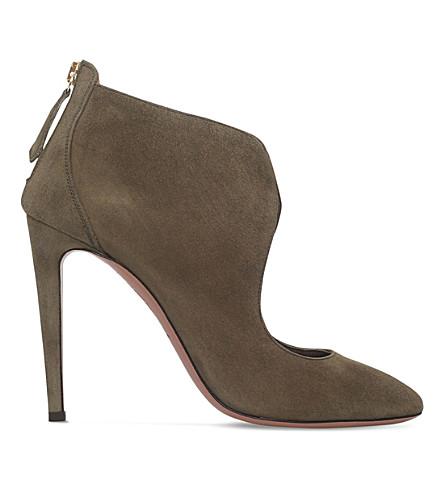 AQUAZZURA Ella suede shoe boots (Khaki