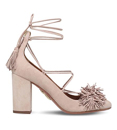 AQUAZZURA Wild fringed suede sandals