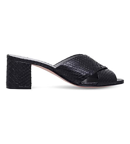 GINA Amazonia snakeskin sandals (Black