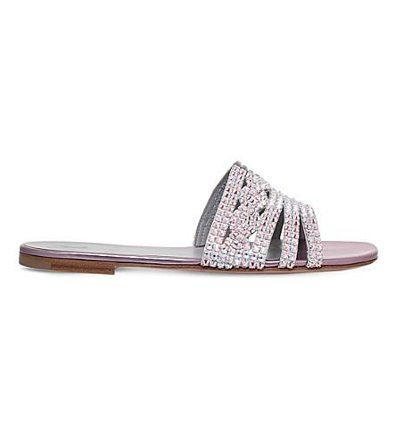 GINA Loren embellished leather sandals (Pink