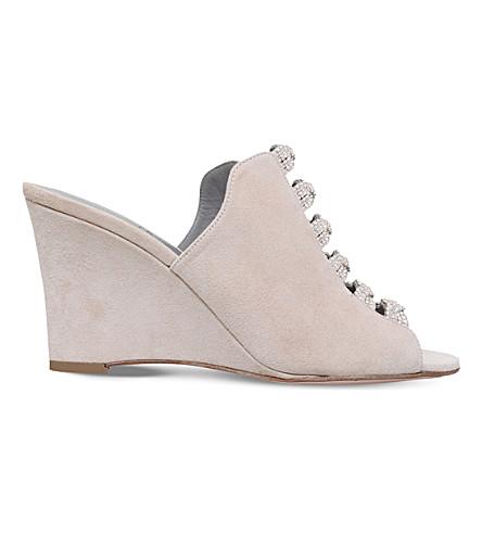 GINA Marlene embellished wedge sandals (Grey/light