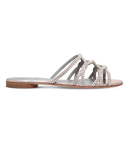 GINA Selene leather sandals (Gold+comb