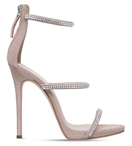 GIUSEPPE ZANOTTI Colline 110 embellished suede sandals (Nude