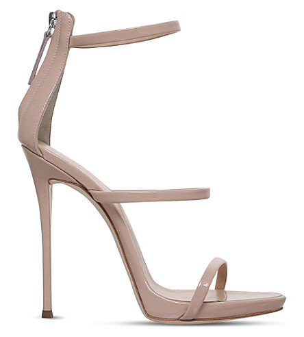 GIUSEPPE ZANOTTI Colline leather sandals (Pale+pink