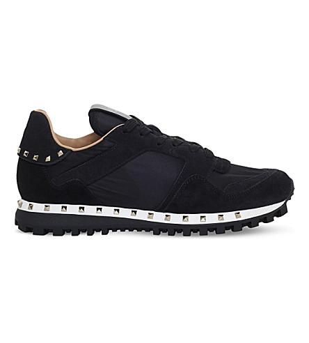 VALENTINO Rockstud camo-print trainers (Black