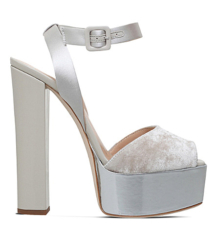 GIUSEPPE ZANOTTI Betty leather platforms (Grey