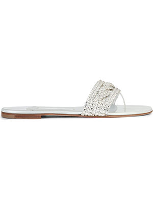 GINA Athena embellished sandals