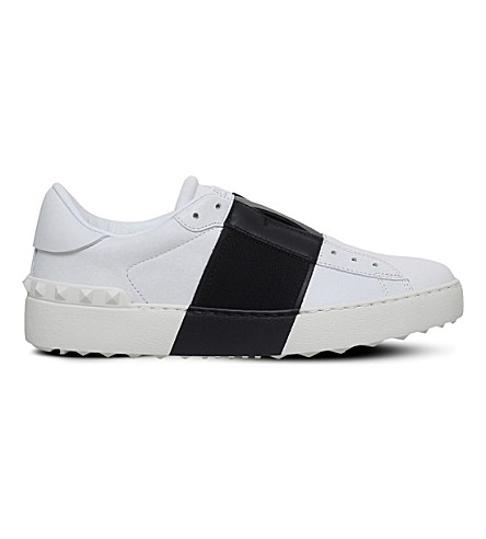 VALENTINO Garavani leather two-tone trainers (Blk/white