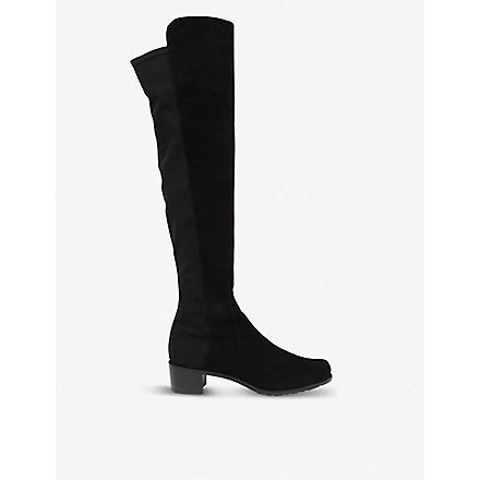 STUART WEITZMAN Reserve suede riding boots (Black