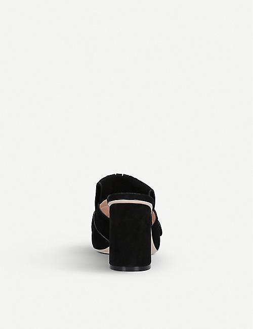 GUCCI Marmont 75 绒面革穆勒鞋