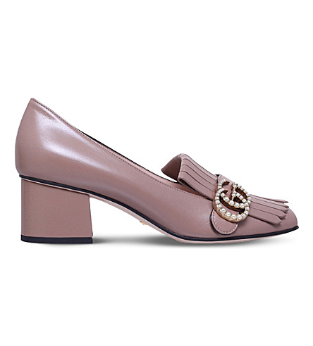 97bbbcb119f GUCCI Marmont leather pumps (Pink