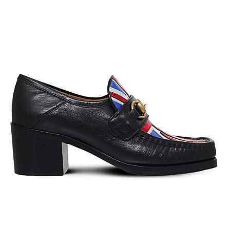 GUCCI Vegas Union Jack leather loafers (Black/comb