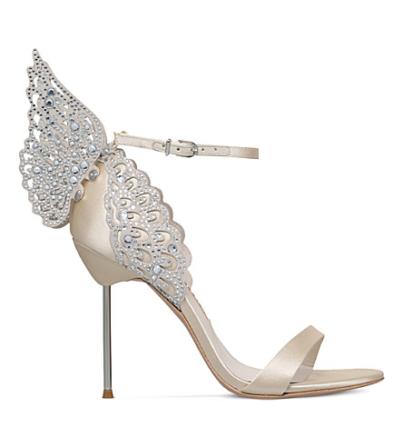 SOPHIA WEBSTER Evangeline embellished satin sandals (White/oth