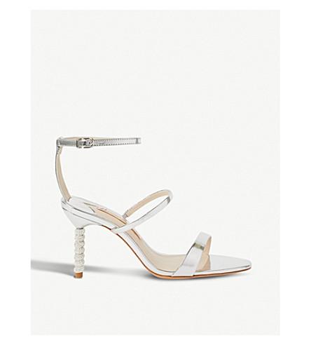 SOPHIA WEBSTER Rosalind crystal metallic leather sandals (Silver