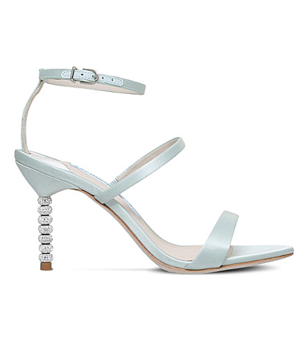 SOPHIA WEBSTER Rosalind satin heeled sandals (Pale+blue