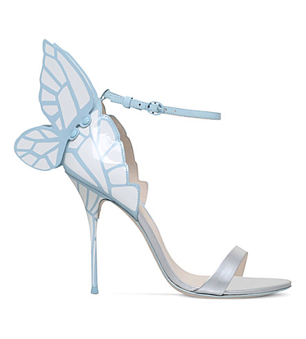 SOPHIA WEBSTER Chiara bridal winged leather sandals (Pale+blue